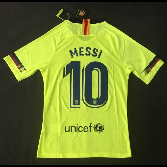 online store 0c02a ea4e5 FC Barcelona Away Jersey PLAYER VERSION MESSI #10 NWT